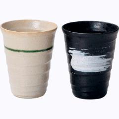 和陶器 色とりどり ペアカップ