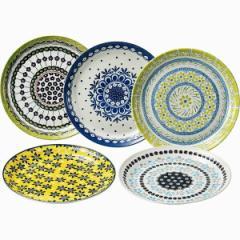 洋陶器 テーブル トーク プレゼンツ ポタリーフィールド パスタ皿5枚セット/7-1801
