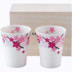 洋陶器 フォション OHANAMI 木箱入ペアフリーカップセット