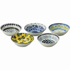 洋陶器 テーブル トーク プレゼンツ ポタリーフィールド スモールボウル5客セット/7-1806