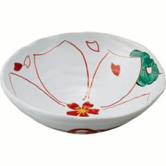 和陶器 有田焼 古赤絵桜紋様 手描六兵丸鉢(手描)