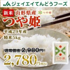 米 お米 山形県産 つや姫 精米 5kg 平成29年産 ※注文から5営業日前後で発送