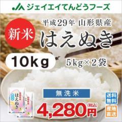 米 お米 無洗米 山形県産 はえぬき 10kg(5kg×2袋) 平成29年産  ※注文から5〜10営業日前後で発送