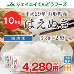 米 お米 無洗米 山形県産 はえぬき 10kg(5kg×2袋) 平成29年産  ※注文から5営業日前後で発送