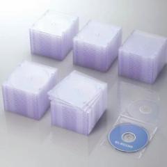 エレコム CCD-JSCS100CR Blu-ray/DVD/CDケース(スリム/PS/1枚収納) クリア