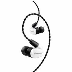 パイオニア SE-CH5T-W 【ハイレゾ音源対応】 マイク&コントローラー搭載 ダイナミック密閉型カ