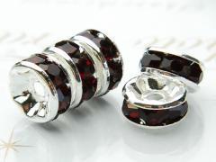 平型 銀ロンデル(レッド) 4mm  (100粒入り) _KZ5-4