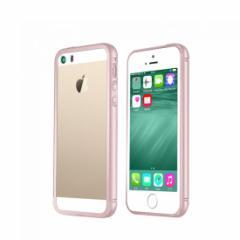c69f9e15cb iPhoneSE ケース/カバー アルミ バンパー クリア 背面カバー付き スリム 軽量 バンパー スマフォ スマホ スマートフォン