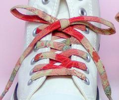 メール便 和柄靴ひも 柄多数ちりめん靴紐ノーマル おしゃれなメンズレディーススニーカーくつひも クツヒモ 日本製シューレース(色92)