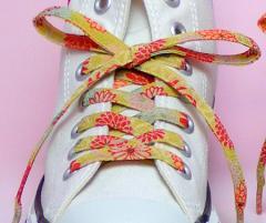 メール便 和柄靴ひも 柄多数ちりめん靴紐ロング おしゃれなメンズレディーススニーカーくつひも クツヒモ 日本製シューレース(色98L)