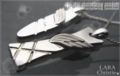 ペアネックレス 2本セット カップル シンプル LARA Christie エターナルウィングペアネックレス p1546-p1547