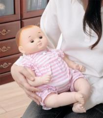 【限定クーポン進呈中】【送料無料!ポイント2%】お座りもできて、スヤスヤ寝んねも♪癒しの赤ちゃん人形『のんちゃん』ぱちぱちタイプ