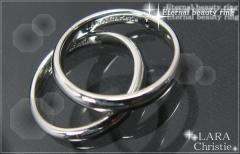 ペアリング 2本セット シンプル お揃い ブランド LARA Christie シルバー エターナルビューティ r3872-p