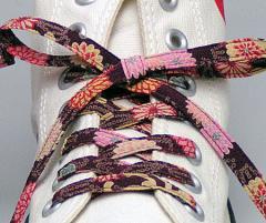 メール便 和柄靴ひも 柄多数ちりめん靴紐ノーマル おしゃれなメンズレディーススニーカーくつひも クツヒモ 日本製シューレース(色110)