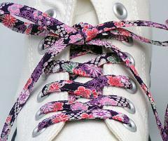 メール便 和柄靴ひも 柄多数ちりめん靴紐ノーマル おしゃれなメンズレディーススニーカーくつひも クツヒモ 日本製シューレース(色180)