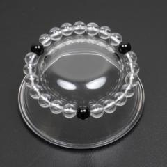 【メール便対応】【開運】天然石 ブレスレット 水晶*オニキス(3個) 8mm玉 MIX クリスタル パワーストーン ┃