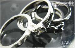ペアリング 人気ブランド LARA Christie 送料無料 シルバー ヴェネチアンペアリングR-4472-P