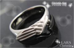 ペアリング 2本セット シンプル お揃い ブランド LARA Christie シルバー ヴィクトリアペアリングr-5058-p