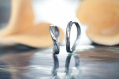 ペアリング ステンレス 2本セット シンプル お揃い ダイヤモンド EVE-GRSD39