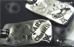 ペアネックレス 2本セット カップル シルバー シンプル人気ブランド LARA Christie *ララクリスティー バベルペアネックレス P-4484-P