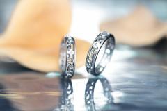 ペアリング ステンレス ダイヤモンド 送料無料316L EVE-GRSD38/15,984円 アラベスク クロス