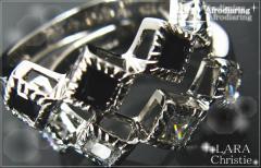 ペアリング 2本セット シンプル お揃い ブランド LARA Christie シルバー アフロディアペアリングr3876-p