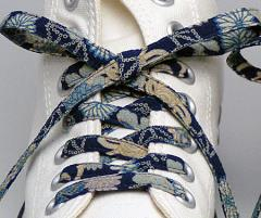 メール便 和柄靴ひも 柄多数ちりめん靴紐ロング おしゃれなメンズレディーススニーカーくつひも クツヒモ 日本製シューレース(色161L)