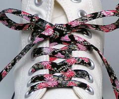メール便 和柄靴ひも 柄多数ちりめん靴紐ロング おしゃれなメンズレディーススニーカーくつひも クツヒモ 日本製シューレース(色178L)