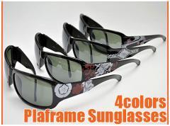 和柄サングラス メンズ おしゃれかっこいい 大人カジュアル 安い プラスチックフレーム 双龍家紋流水桜菊紋 眼鏡