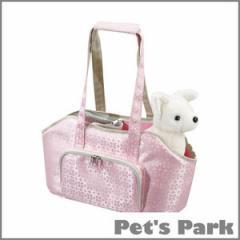 【特価】【バッグ】ペットキャリー 花柄ピンク♪