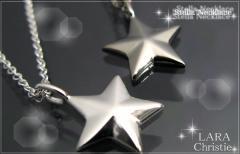 ペアネックレス 2本セット シルバー   シンプル人気 ブランド LARA Christie ステラ ペアネックレス  p5714-p