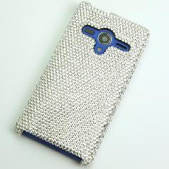 AQUOS PHONE Xx 203SH  ケース スワロフスキーカバー (全貼り ss12ベース)【クリスタル】送料無料