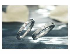ペアリング ステンレス 2本セット シンプル お揃い ダイヤモンド EVE-GRSD16SVWH-17SVWH
