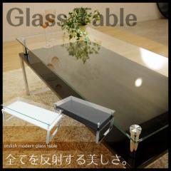 【送料無料】ガラステーブル 2色対応 テーブル ローテーブル センターテーブル 金属脚 強化ガラス 飛散防止シート★dt87