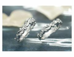 ペアリング ステンレス 2本セット シンプル お揃い ダイヤモンド EVE-GRSD45SVWH-45SVWH