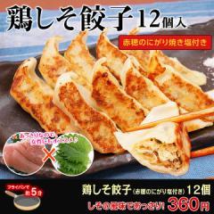 【餃子】【大阪王将】鶏しそ餃子 12個入(特製赤穂の塩付き) 【ギョーザ】