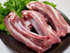九州産○豚骨付きカルビ スペアリブ[1枚分]☆焼肉・バーベキューで豪快にかぶりつき♪