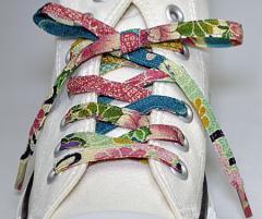 メール便 和柄靴ひも 柄多数ちりめん靴紐ノーマル おしゃれなメンズレディーススニーカーくつひも クツヒモ 日本製シューレース(色238)