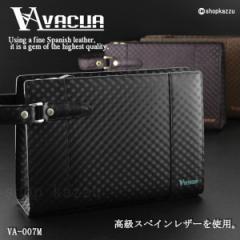 セカンドバッグ メンズ 革 メッシュ スペインレザー 牛革 セカンド バッグ ループハンドル 父の日 VACUA (3色) 【VA-007M】