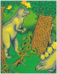 オーダーメイドの手作り絵本 クリエイトアブック  恐竜の国での冒険 あなたの名前やメッセージが入る面白い絵本 【メール便送料無料】