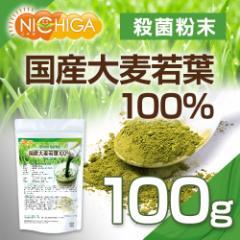 国産大麦若葉 100g  【メール便選択で送料無料】 青汁 100%粉末 [03] NICHIGA ニチガ