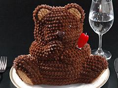 マイルストーン ベアー3Dケーキ <注意!送料別> 誕生日ケーキ プレゼント 母の日 結婚式 ギフト お祝い 立体ケーキ ベアー