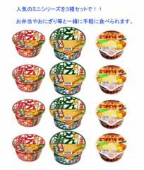【 送料無料 】【6240円以上で景品ゲット】 日清食品 ミニシリーズ 3種×4食(12食入り)