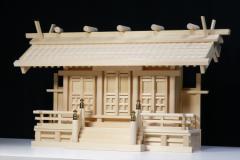 白山瓦屋根通し三社 大 ■ 美・木曽ひのき 極上の通し屋根 三社 瓦屋根造 大型 神棚