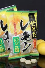 さわやかキャンディー「せとだレモンのど飴」ハチミツ入り 90g /瀬戸田産レモン使用/