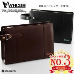 セカンドバッグ メンズ 革 スペインレザー ループハンドル バッグ バック 人気 父の日 VACUA (2色) 【VA-007】