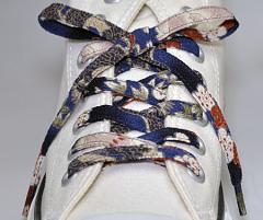 メール便 和柄靴ひも 柄多数ちりめん靴紐ロング おしゃれなメンズレディーススニーカーくつひも クツヒモ 日本製シューレース(色278L)
