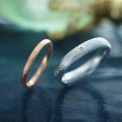 ペアリング ステンレス 2本セット シンプル お揃い ダイヤモンド ブランド EVE EVE-GRSD131-GRSD132