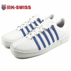 定番 ケースイス K・SWISS CLASSIC 88 クラシック 88 ホワイト/ブランナーブルー/ホワイト 02248-129-M