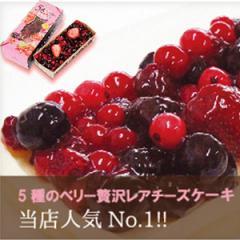 5種のベリー贅沢レアチーズケーキ 父の日 ギフト お土産 贈り物 女子会 手土産 フルーツ ケーキ 人気 かわいい きれい